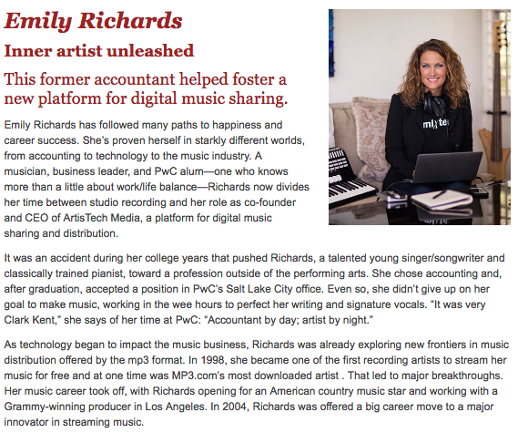 PwC Emily Richards article